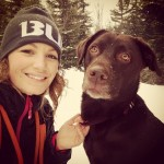 Winter-trekking-with-Bri-snow-winter-cold-lab-laboftheday-labradorretriever-iger-igdaily-instadog-in