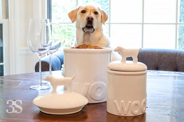 3 Shades of Dog Bowls Treat Jars -63