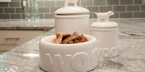 3 Shades of Dog Bowls Treat Jars -95