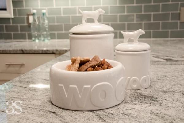 3 Shades of Dog Bowls Treat Jars -95