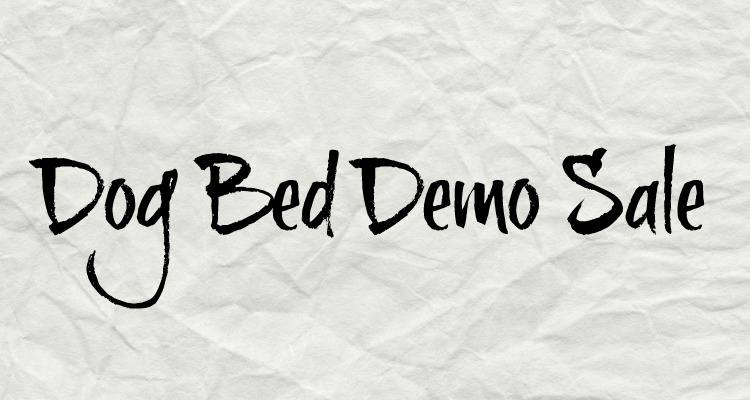3 Shades of Dog Demo Bed Sale